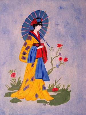 Painting - Geisha by Susan Turner Soulis