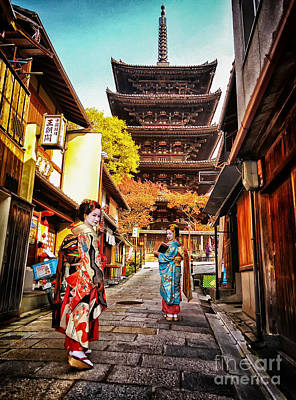 Geisha Temple Art Print