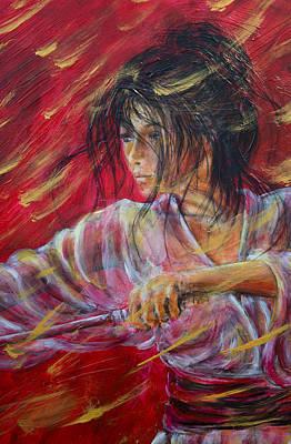 Painting - Geisha Up Close by Nik Helbig