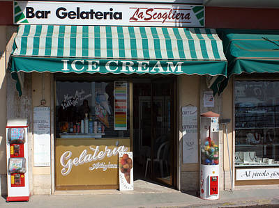 Photograph - Gelateria Cinque Terre by Karen Zuk Rosenblatt