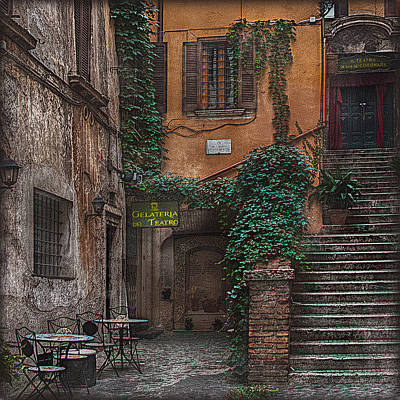 Photograph - Gelateria Del Teatro by Hanny Heim