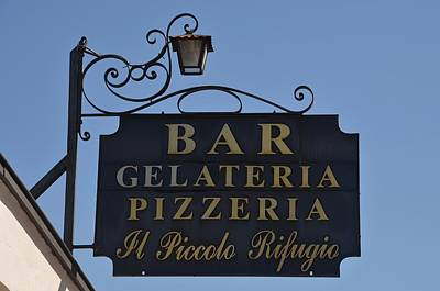 Photograph - Gelateria Pizzeria by Dany Lison