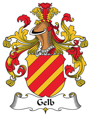 Gelb Digital Art - Gelb Coat Of Arms German by Heraldry