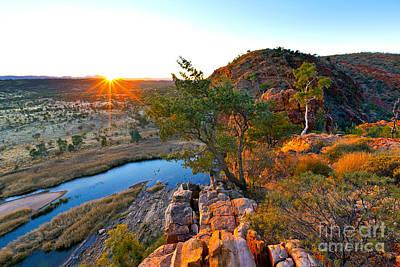 Northern Territory Photograph - Gelen Helen Gorge Sunrise by Bill  Robinson