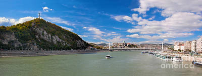 Gellert Hill And Danuber River In Budapest Art Print
