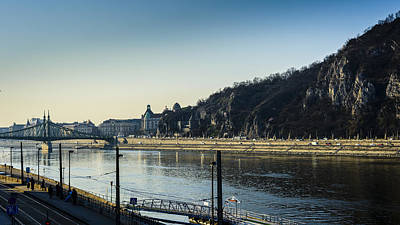 Budapest Hungary Hotels Photograph - Gellert Hill Cave And Hotel by A Souppes