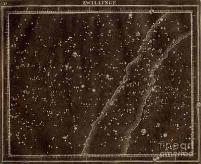 Photograph - Gemini Constellation Zodiac 1799 by US Naval Observatory Library
