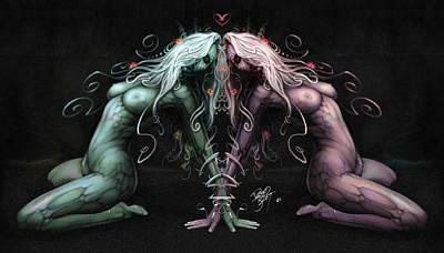 Gemini Heart Art Print
