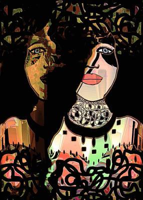 Natalie Holland Art Mixed Media - Gemini by Natalie Holland