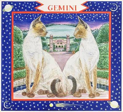 Siamese Photograph - Gemini Wc On Paper by Catherine Bradbury