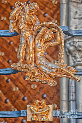 Gemini Photograph - Gemini Zodiac Sign - St Vitus Cathedral - Prague by Ian Monk