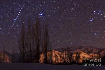 Geminid Meteor Shower Art Print by Babak Tafreshi