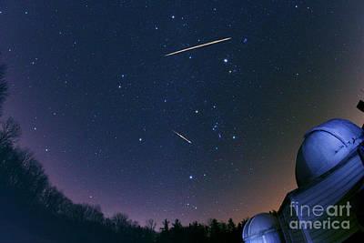 Geminid Meteor Shower Art Print