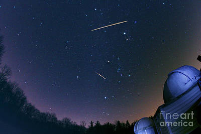 Geminid Meteors Art Print by John Chumack
