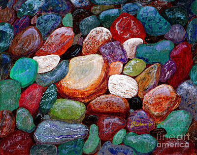 Gemstones Print by Barbara Griffin