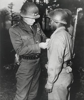Gen. George Patton, Pins The Silver Art Print by Everett