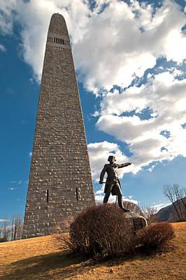 Photograph - Gen. John Stark At The Bennington Battle Monument by Paul Mangold