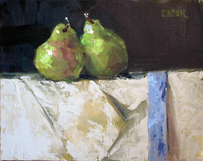 Painting - Gena's Pears by Chris  Saper
