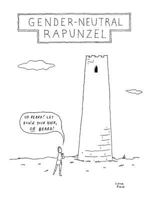 Gender-neutral Rapunzel -- A Man Calls Out To Let Art Print