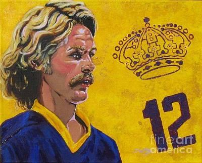 Hockey Fans Painting - Gene Carr Kings by David Boettcher