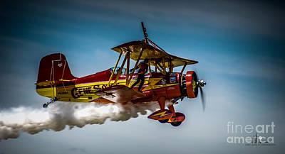 Photograph - Gene Soucy Wing Walker by Ronald Grogan