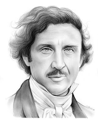Frankenstein Drawing - Gene Wilder by Greg Joens