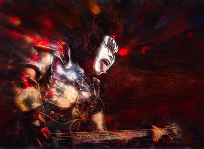 Paul Stanley Photograph - Gene by William Beuther
