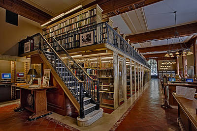 Genealogy Room Ny Public Library Print by Susan Candelario