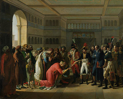 Bowing Photograph - General Bonaparte Giving A Sword To The Military Chief Of Alexandria, July 1798, 1808 Oil On Canvas by Francois Henri Mulard
