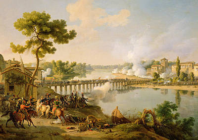 General Bonaparte Giving Orders At The Battle Of Lodi Art Print by Louis Lejeune