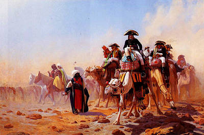 Staff Painting - General Bonaparte With His Military Staff In Egypt 1863 by MotionAge Designs