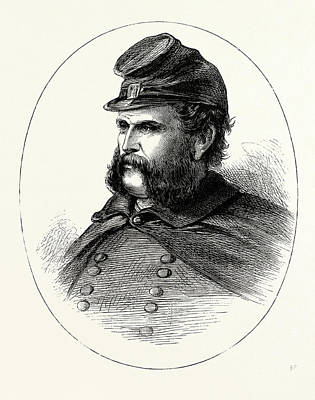 Tennessee Drawing - General Burnside, He Was An American Soldier by English School