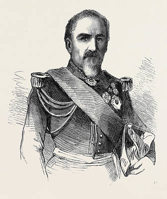 General Camou Commander Of The 2nd Division Of The Imperial Art Print by English School