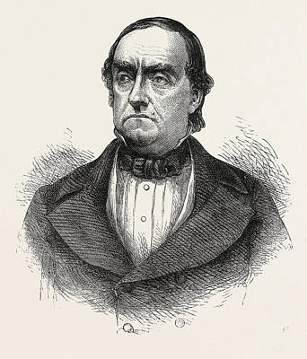 General Cass, Lewis Cass, 1782-1866, American Military Art Print by English School