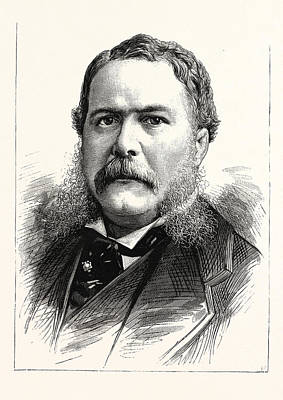 General Chester A. Arthur, Vice-president-elect Art Print by American School
