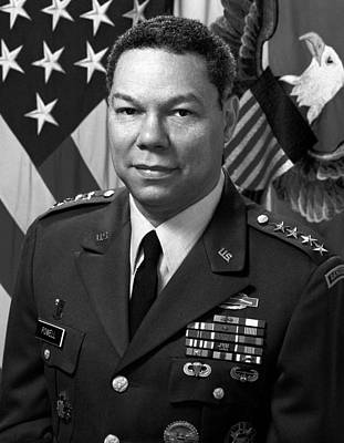 Iraq Photograph - General Colin Powell by War Is Hell Store