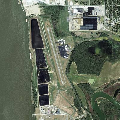 Ikonos Satellite Photograph - General Dewitt Spain Airport, Usa by Science Photo Library