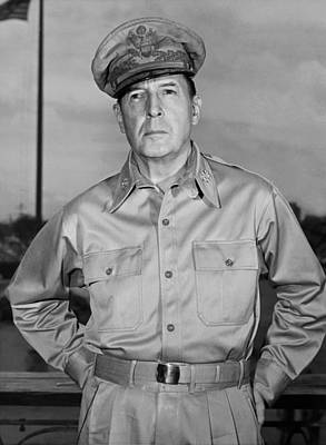 Military Uniform Photograph - General Douglas Macarthur by Andrew Lopez