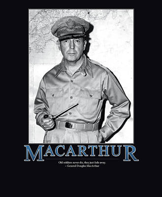 Douglas Photograph - General Douglas Macarthur by Retro Images Archive