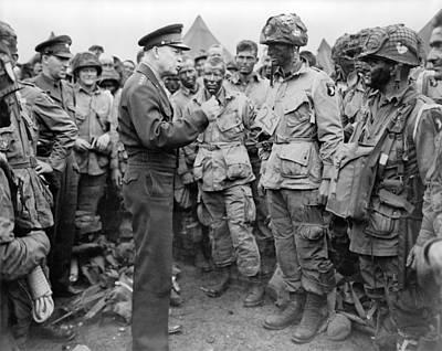 General Dwight D Eisenhower Photograph - General Dwight Eisenhower Talked by Everett