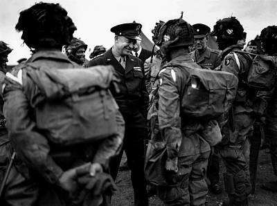 General Dwight D Eisenhower Photograph - General Eisenhower Talks by Everett
