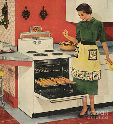 Nineteen-fifties Drawing - General Electric 1950s Usa  Ovens by The Advertising Archives