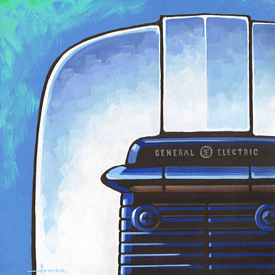 General Electric Toaster - Blue Art Print