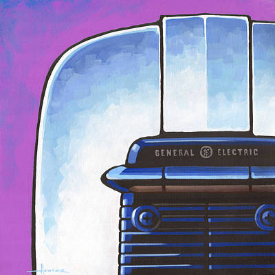 Painting - General Electric Toaster - Purple by Larry Hunter