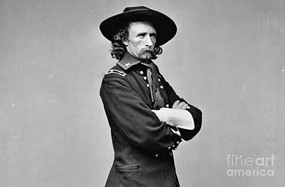 General George Armstrong Custer Killed 1876 Little Big Horn  Art Print by David Call