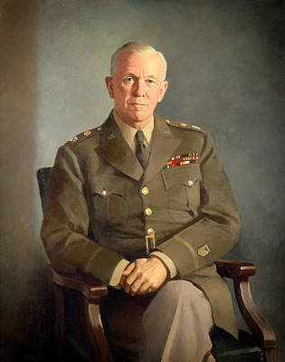 General George C Marshall Art Print by Mountain Dreams