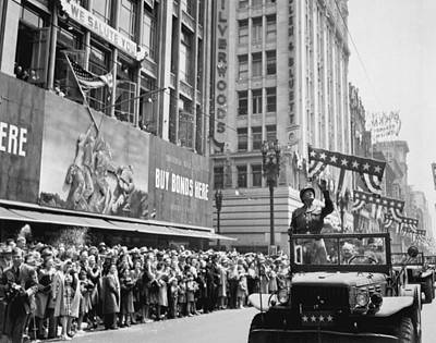 War Bonds Photograph - General George Patton Receives by Everett