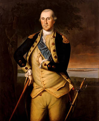 Revolutionary War Painting - General George Washington  by War Is Hell Store
