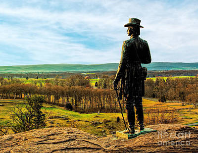 Photograph - General G.k. Warren -gettysburg by Nick Zelinsky
