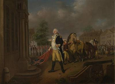 Independence Hall Painting - General Humphreys Delivering by Nicolas Louis Albert Delerive